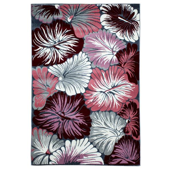 فرش ماشینی سهند  کد SL15.US طرح فانتزی رنگ نقره ای