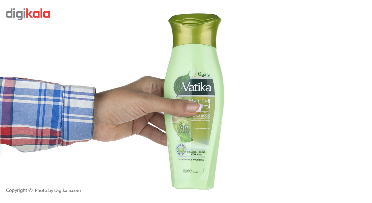 شامپو تقویت کننده مو واتیکا مدل Garlic حجم 200 میلی لیتر