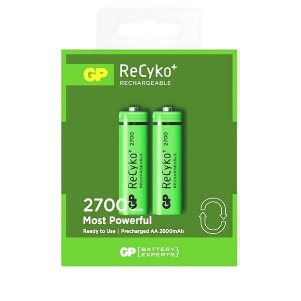 باتری قلمی قابل شارژ جی پی مدل 2700  بسته 2 عددی