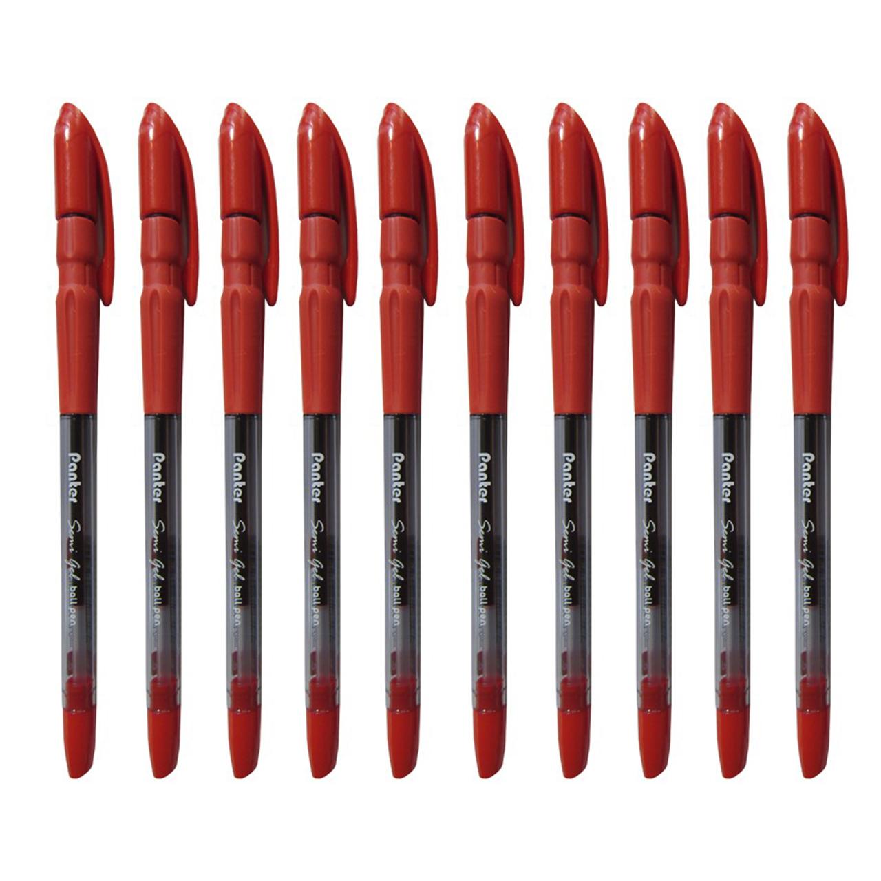 خودکار پنتر مدل Semi Gel بسته 10 عددی سایز 0.7