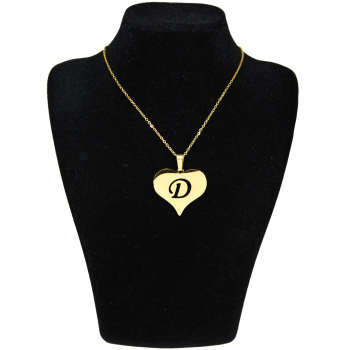 گردنبند آی جواهر طرح D و قلب کد 11560GH