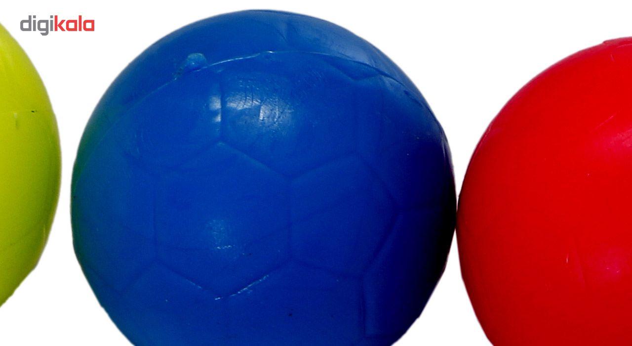توپ فوتبال دستی بسته 4 عددی سایز 3 main 1 2