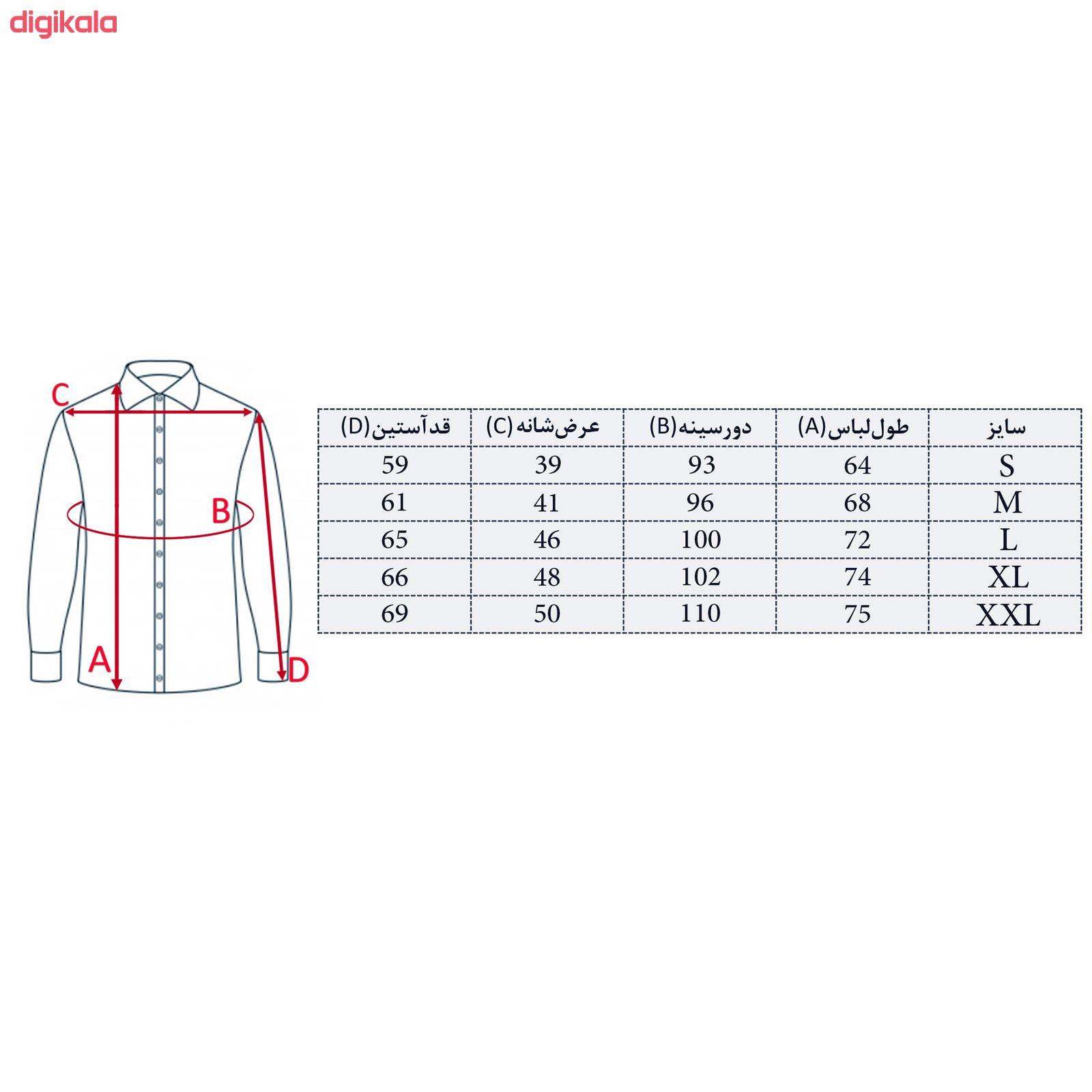 پیراهن مردانه پیکی پوش مدل M02420 main 1 6