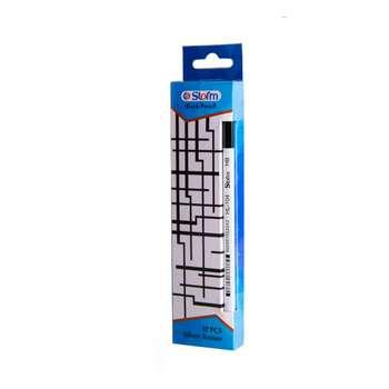 مداد مشکی استورم مدل Silver Armor کد 104 بسته 12 عددی
