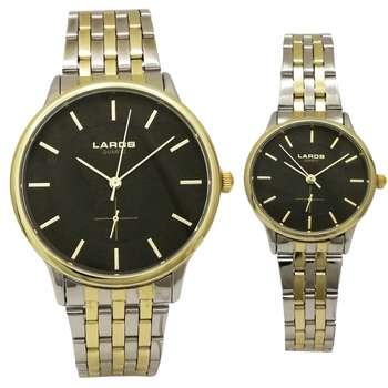 ساعت مچی عقربهای ست مردانه زنانه فلزی لاروس مدل0617-79837-8