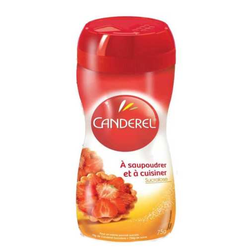 قوطی پودر شیرین کننده کاندرل مدل Sucralose بسته 75 گرمی