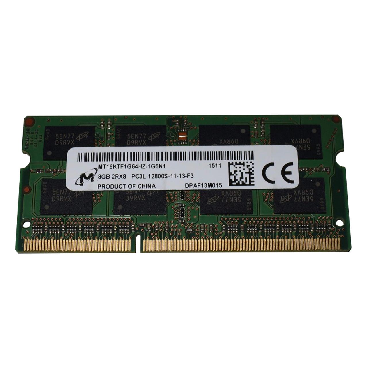 رم لپ تاپ میکرون مدل 1600 DDR3L PC3L 12800S MHz ظرفیت 8 گیگابایت