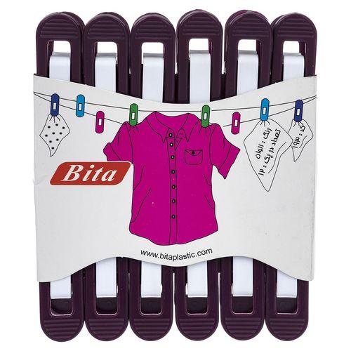 گیره لباس بیتا کد 193 بسته 12 عددی