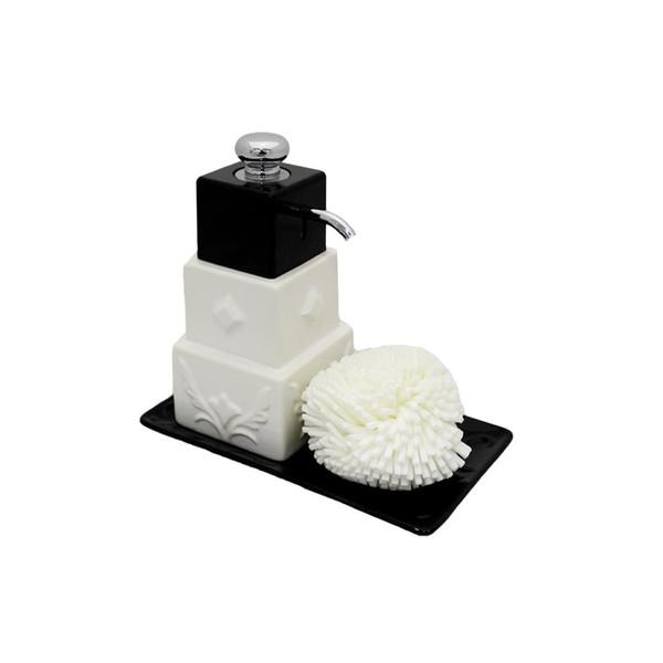 پمپ مایع ظرفشویی آتریسا به همراه اسکاچ مدل Black 3Cube