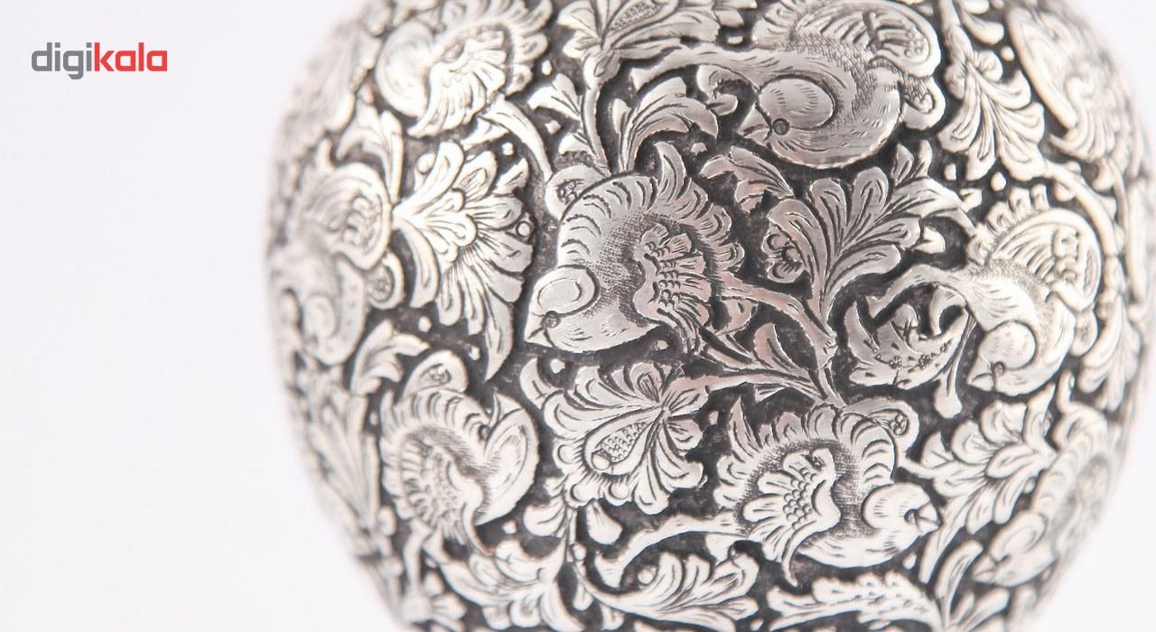 شکلات خوری قلمزنی گالری مثالین طرح گل و مرغ کد 149011