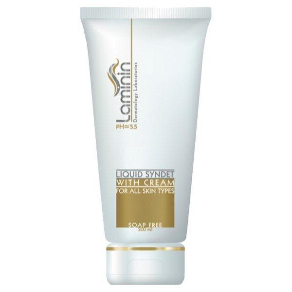 کرم ژل پاک کننده لامینین کرم دار مناسب انواع پوست ها حجم 200 میلی لیتر -  - 1