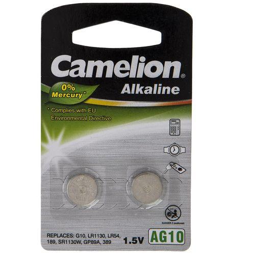 باتری سکه ای کملیون مدل AG10 بسته 2 تایی