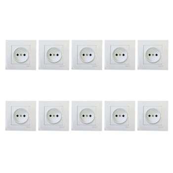 پریز برق محافظ دار دلند مدل آسا بسته 10 عددی