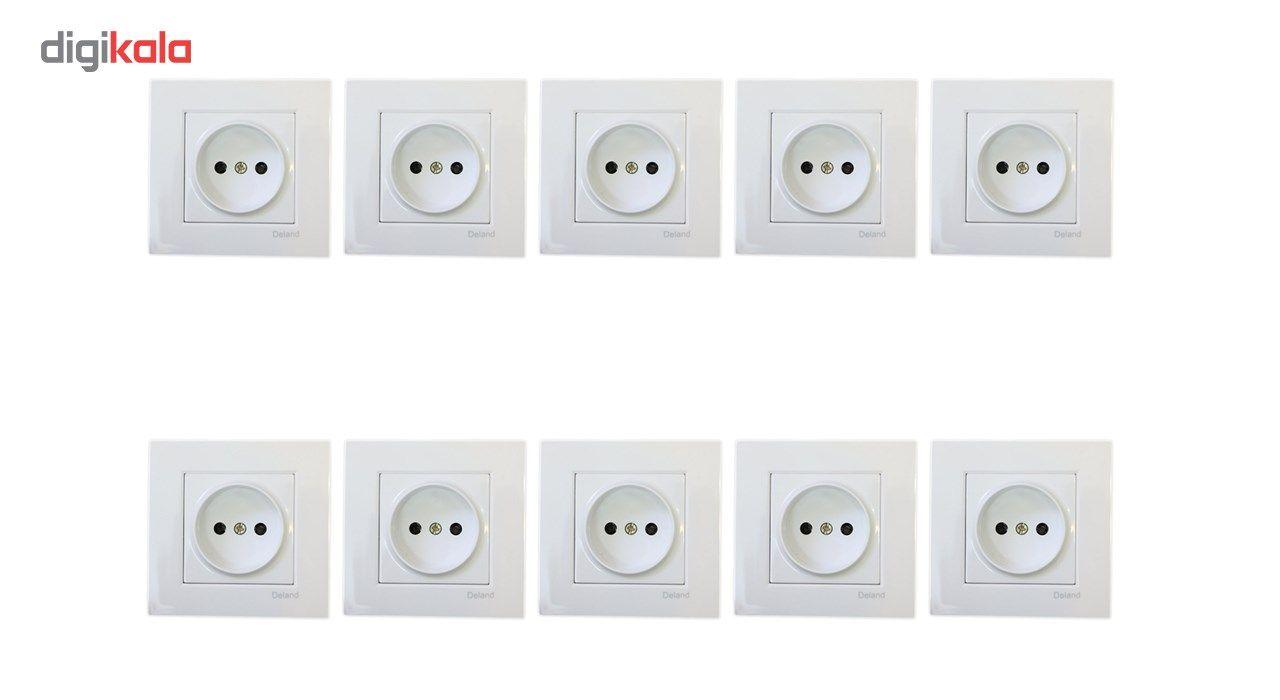 پریز برق محافظ دار دلند مدل آسا بسته 10 عددی main 1 1