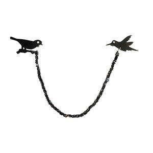 گیره یقه میلک مدل Mlcollarbird