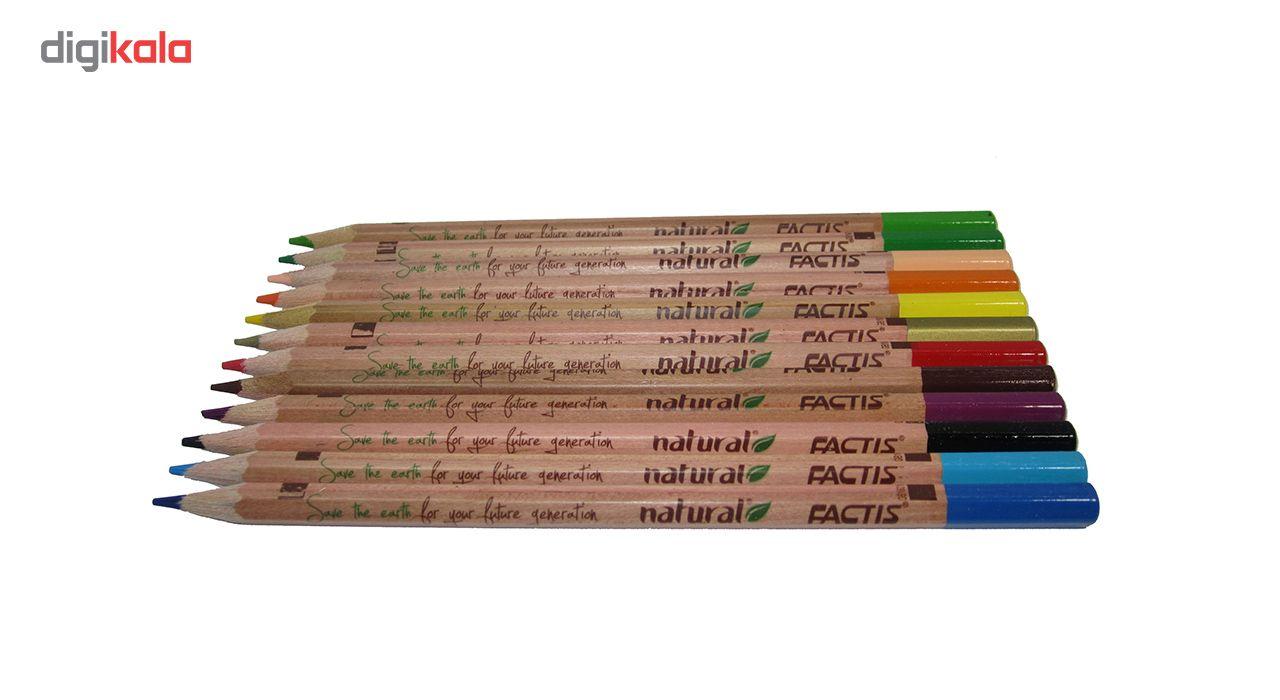 مداد رنگی 12 رنگ فکتیس مدل Natural main 1 1