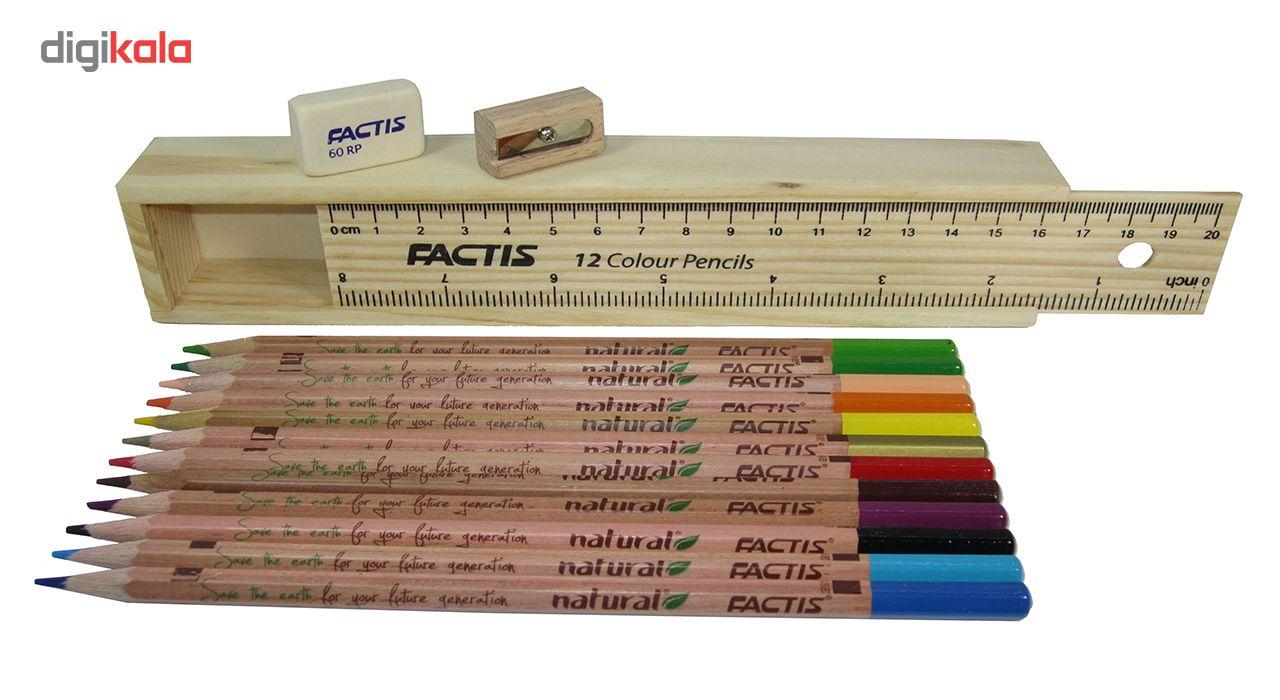 مداد رنگی 12 رنگ فکتیس مدل Natural main 1 2