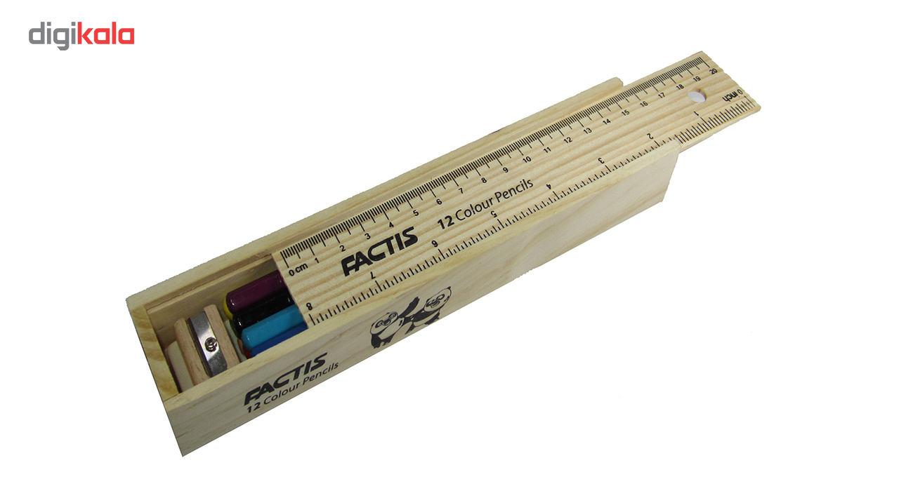 مداد رنگی 12 رنگ فکتیس مدل Natural main 1 4