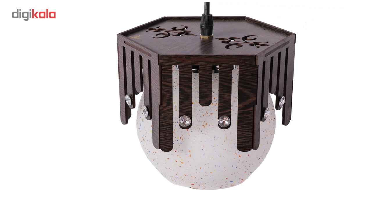 لوستر چراغ آویز 3 شعله سهیل مدل باران خطی