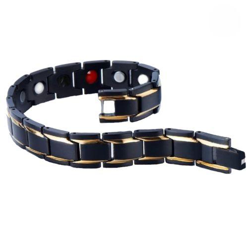 دستبند سلامت اسپرت مشکی طلایی مدل black-171
