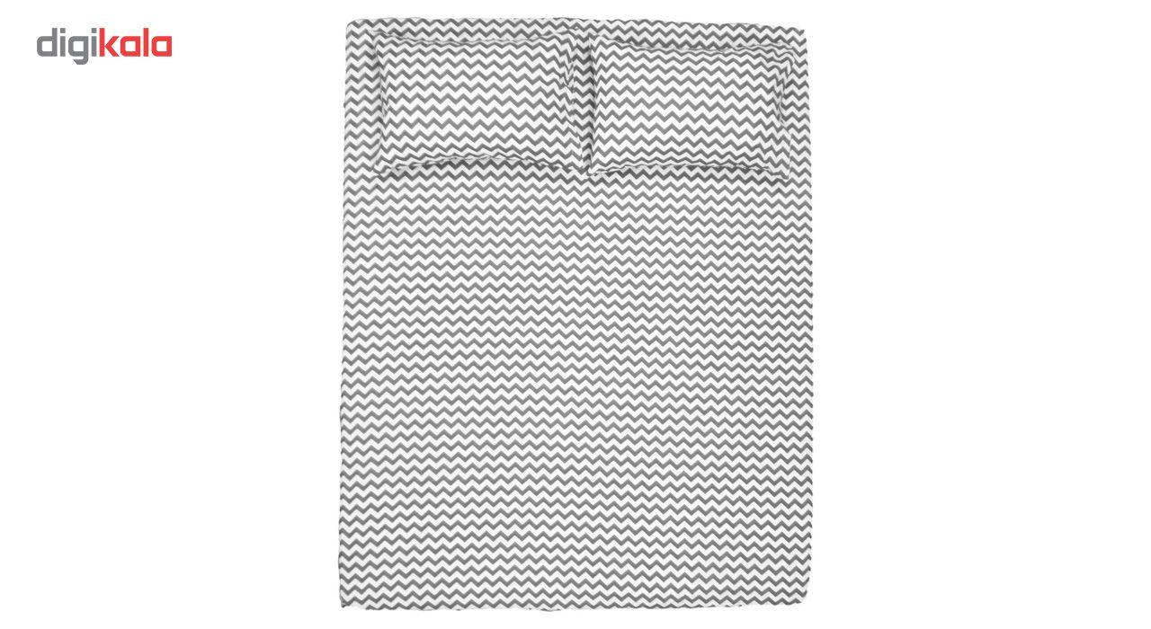 سرویس ملحفه هارمونی مدل Zigzag-01  یک نفره دو تکه main 1 6