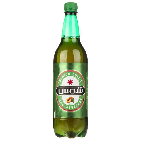 نوشیدنی مالت بدون الکل با طعم هلو شمس مقدار 1 لیتر