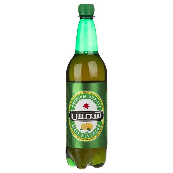 نوشیدنی مالت بدون الکل با طعم لیمو شمس مقدار 1 لیتر