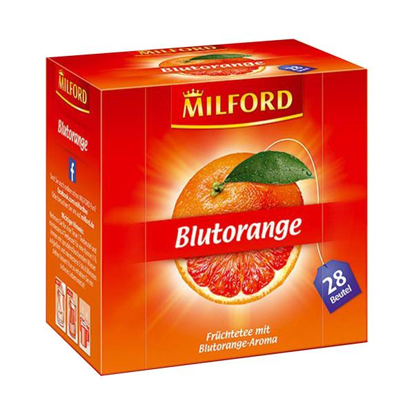 دمنوش آلمانی پرتقال خونی میلفورد مدل Blutorange بسته 28 عددی