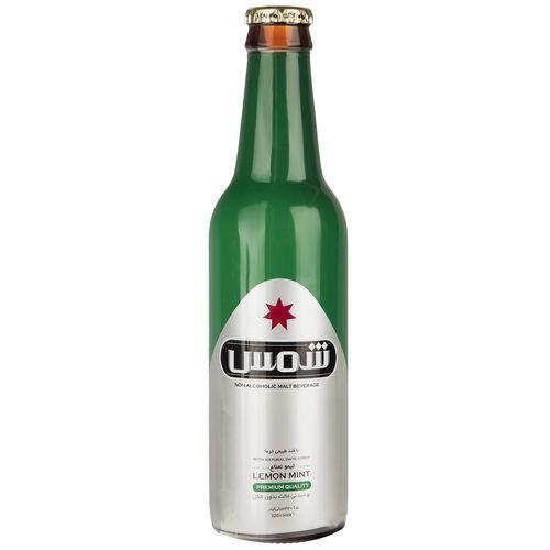 نوشیدنی مالت بدون الکل با طعم لیمو نعناع شمس مقدار 0.32 لیتر