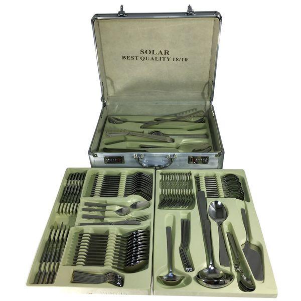 سرویس قاشق و چنگال 128 پارچه ام جی اس مدل  Solar 18/10   MGS Solar 18/10 Cutlery Set 128 Pcs
