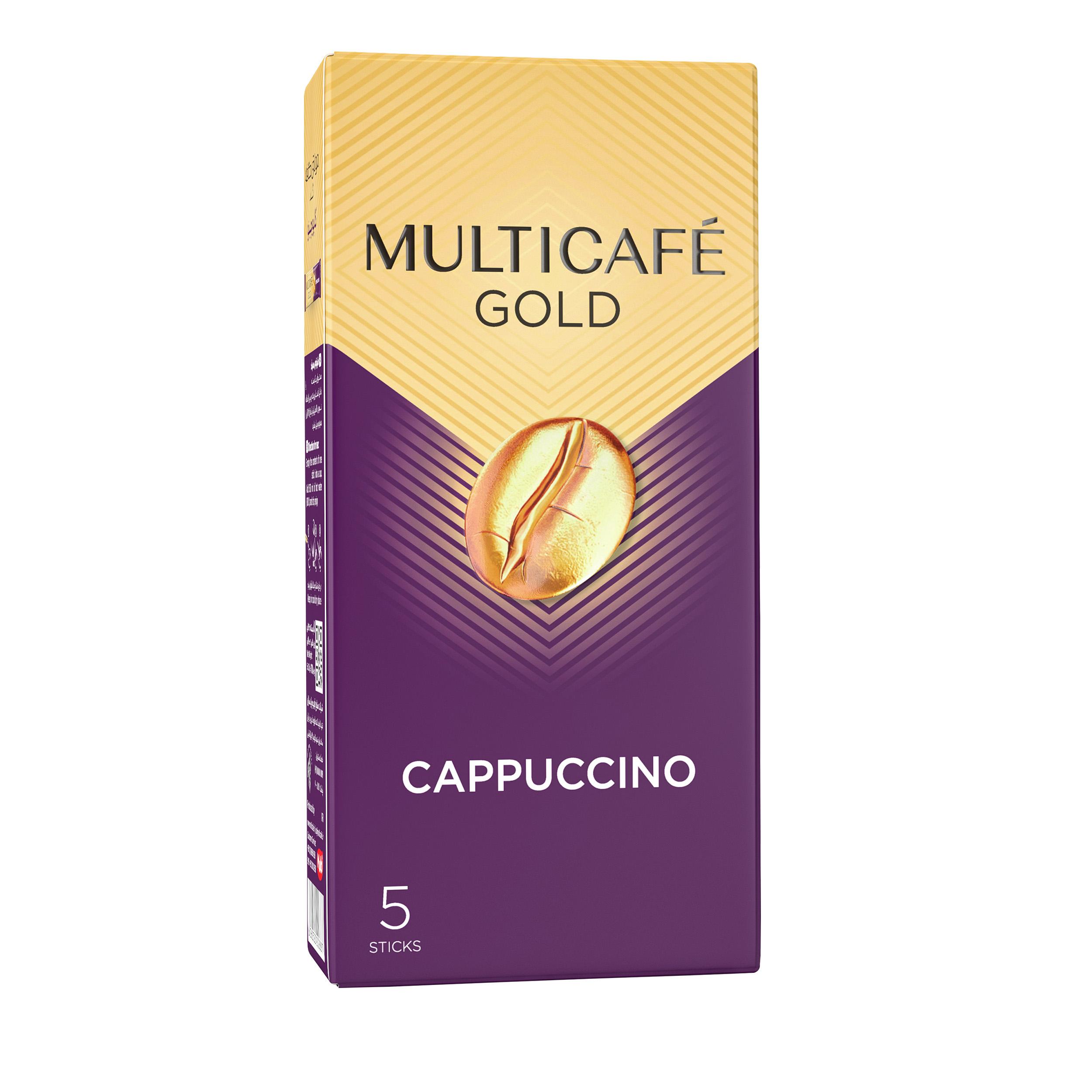 کاپوچینو گلد مولتی کافه بسته 5 عددی  main 1 2