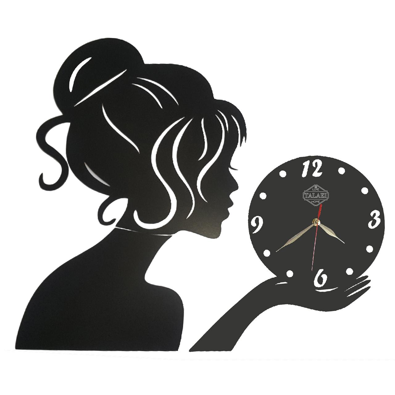 ساعت دیواری لوکس طلائی مدل دخترونه 01Large