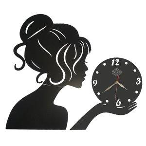 ساعت دیواری لوکس طلائی مدل دخترونه