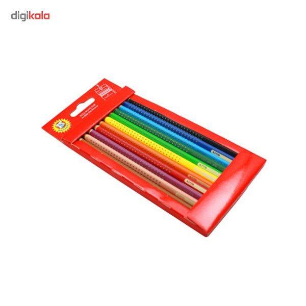 مداد آبرنگی 12 رنگ فابر کاستل مدل Grip main 1 2