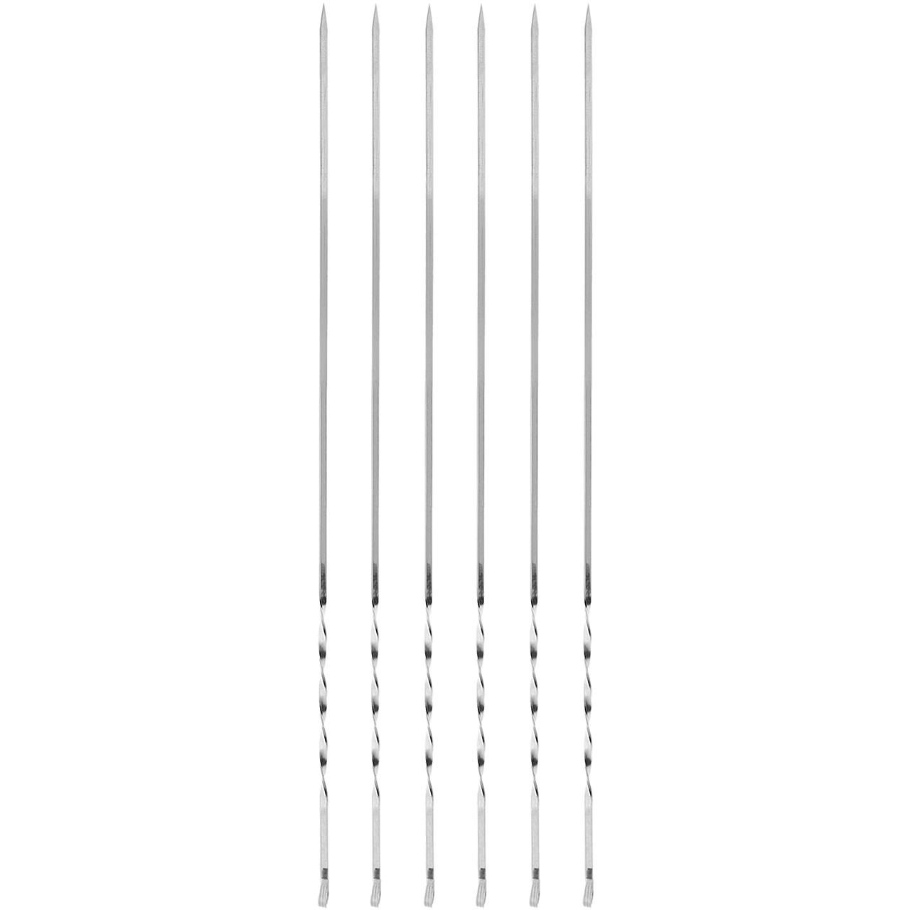 سیخ استیل جگر مدل پیچ دار بسته 6 عددی
