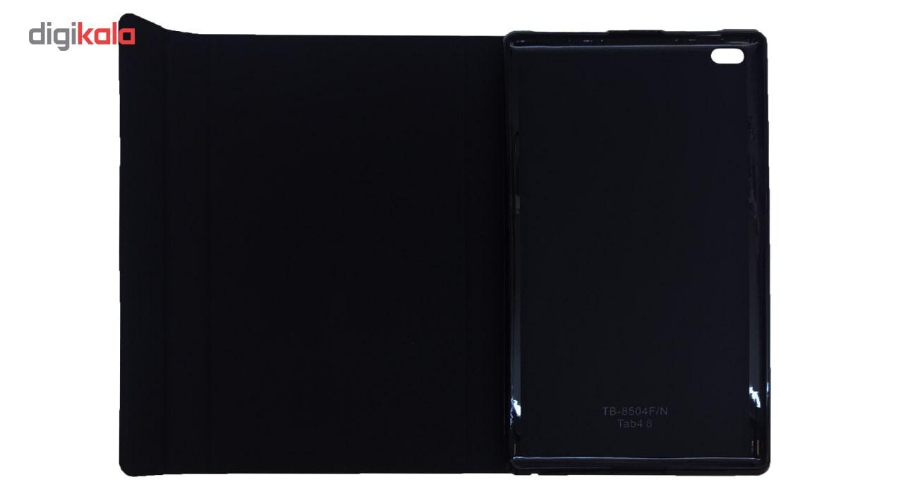 کیف کلاسوری مدل Book Cover مناسب برای تبلت لنوو Tab 4-8 main 1 3