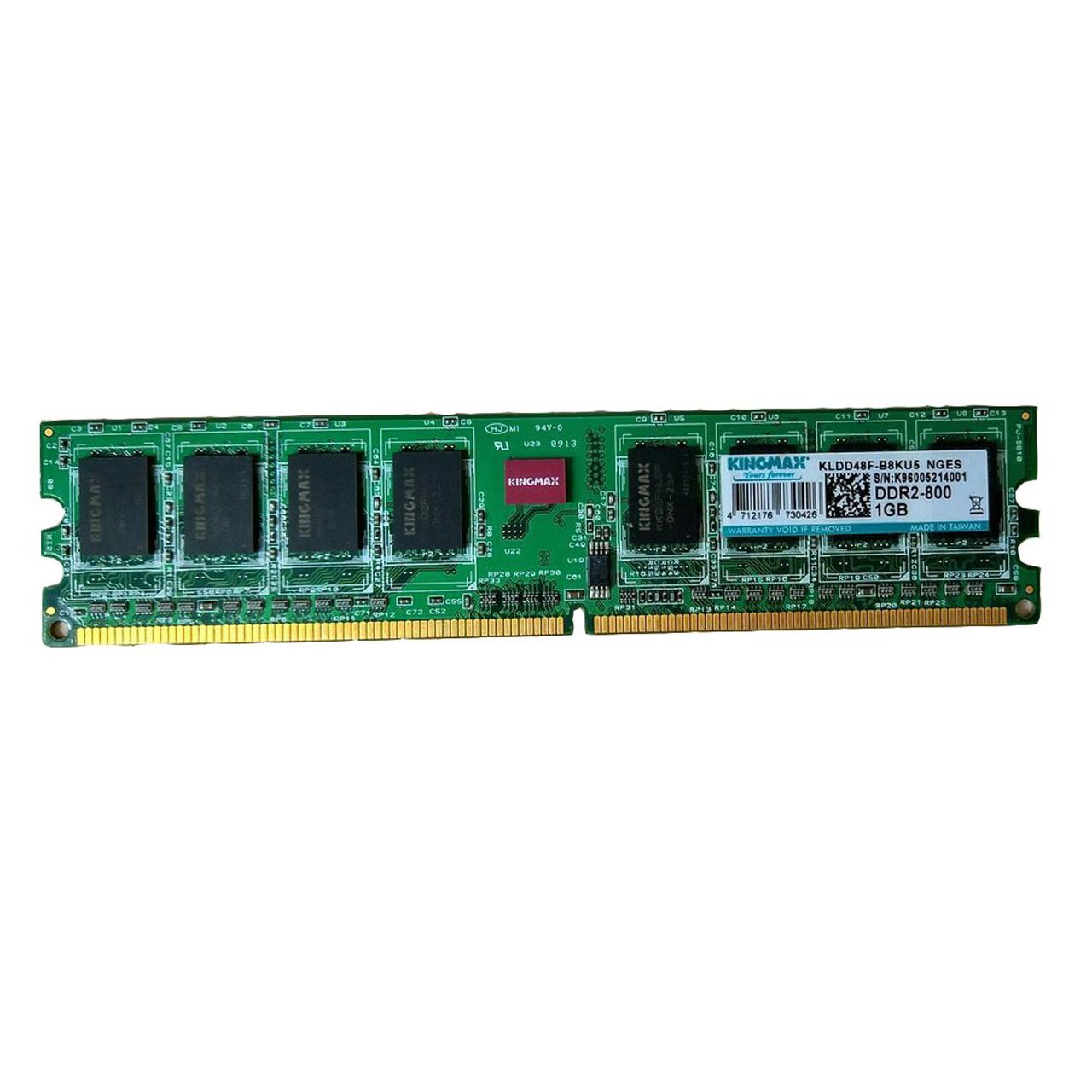 رم دسکتاپ DDR2 تک کاناله 800 مگاهرتز کینگ مکس ظرفیت 1 گیگابایت