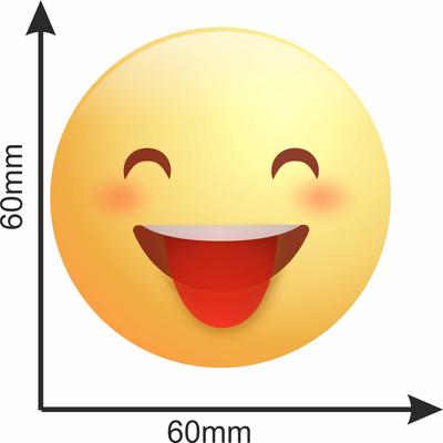 برچسب تزئینی موبایل مدل squinting face with Tongue کد 0003