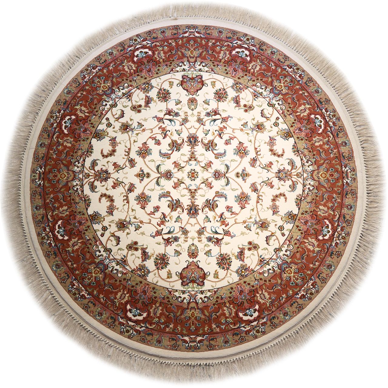فرش ماشینی گرد رادین اصفهان طرح گرد افشان 3 رنگ زمینه صدفی
