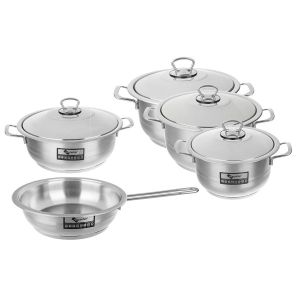 سرویس پخت و پز 9 پارچه هاس جوهر مدل Gastro