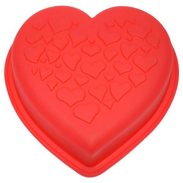 قالب ژله و کیک سیلیکونی طرح قلب