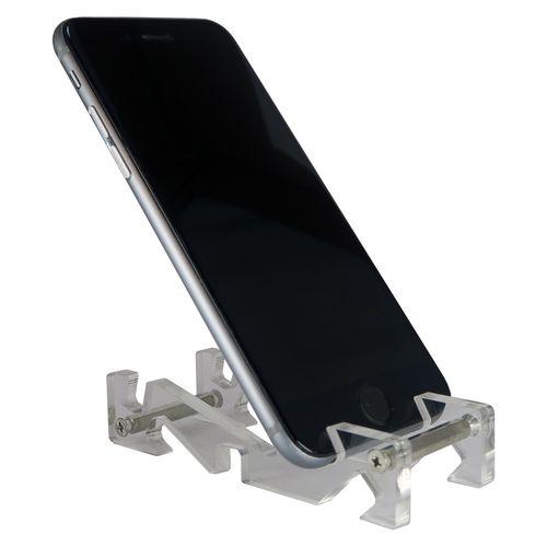 پایه نگهدارنده گوشی موبایل گالری چوب و شیشه مدل گلس کد 050901