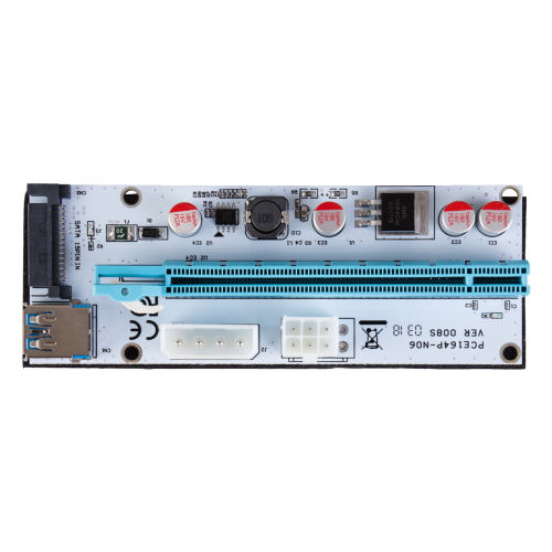 رایزر کارت گرافیک تبدیل PCI EXPRESS 1X به 16Xمدل 008S