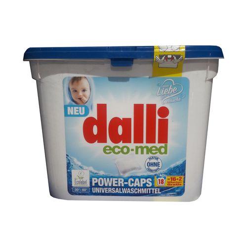 مایع لباسشویی کپسولی دالی مخصوص لباس کودکان و پوست های حساس بسته 18 تایی