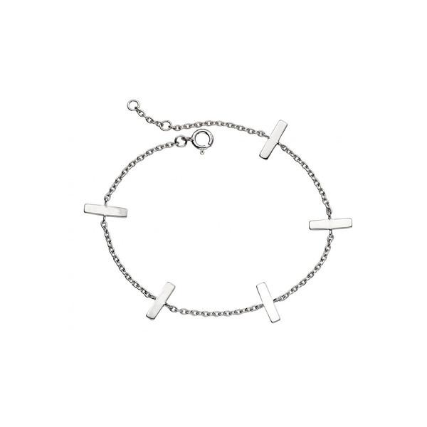 دستبند نقره بیسیک مدل B4922