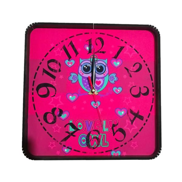 ساعت دیواری طرح جغد کد 10010257