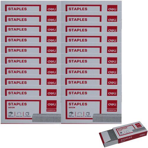 سوزن منگنه دلی مدل 0012N سایز 24/6 21 بسته 1000 عددی