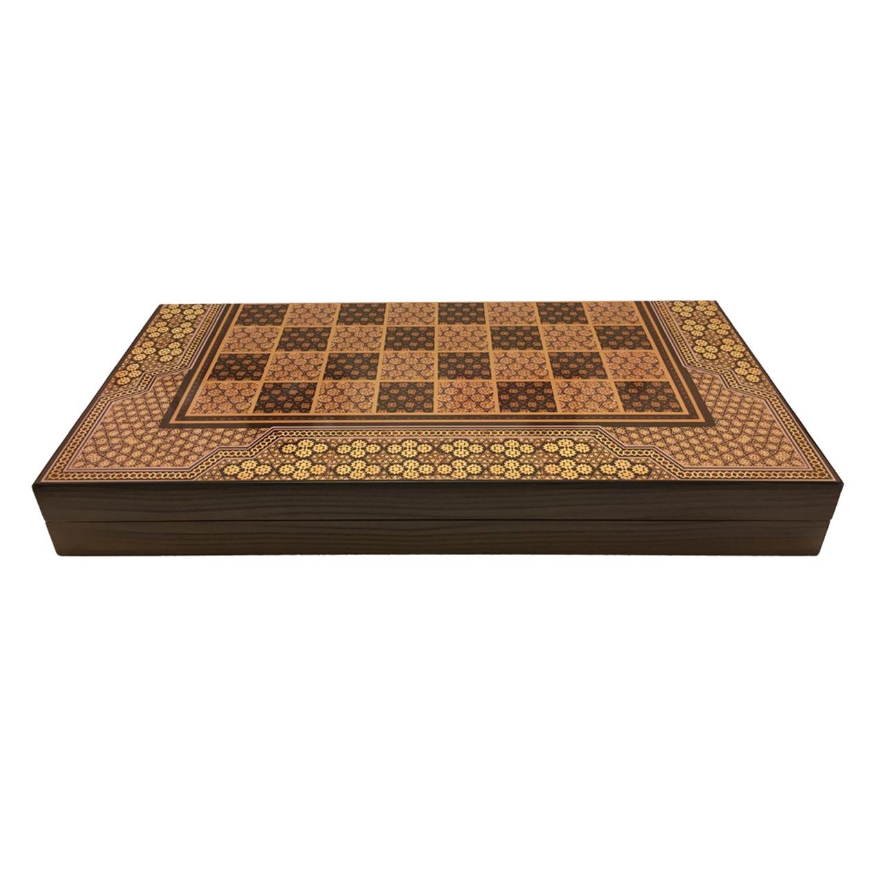 صفحه شطرنج و تخته نرد آرونی مدل فرحزاد