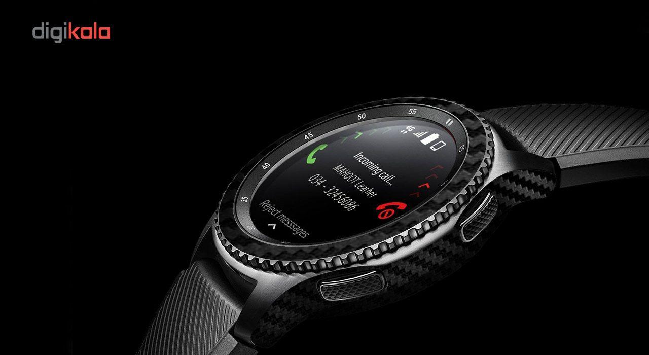 بسته 2 عددی برچسب ماهوت مدل Carbon-fiber مناسب برای ساعت هوشمند Samsung Gear S3 Frontier main 1 5