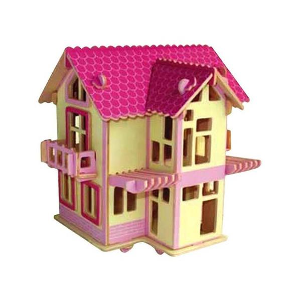 پازل چوبی 3 بعدی مدل خانه ی اروپایی 3